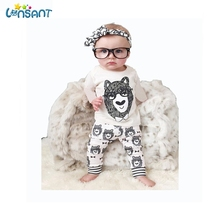LONSANT Baby Boy Clothes Set Cartoon T-shirt Pants Set Newborn Long Sleeve Baby Rompers Children Clothing Dropshipping 4M-5Y