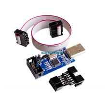 2 PCS =1PC SBASP USB AVR Programmer for USB ASP USBISP ISP Bootloader NEW+ 1PC 10PIN TO 6PIN ADAPTER
