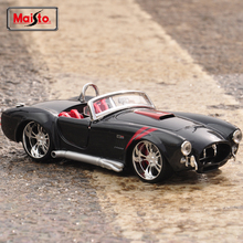 Maisto Ford 1965 Shelby Cobra 427 Classic Car 1:24 Scale Model Alloy Metal Diecasts & Toy Vehicles Vintage car Collection Gifts