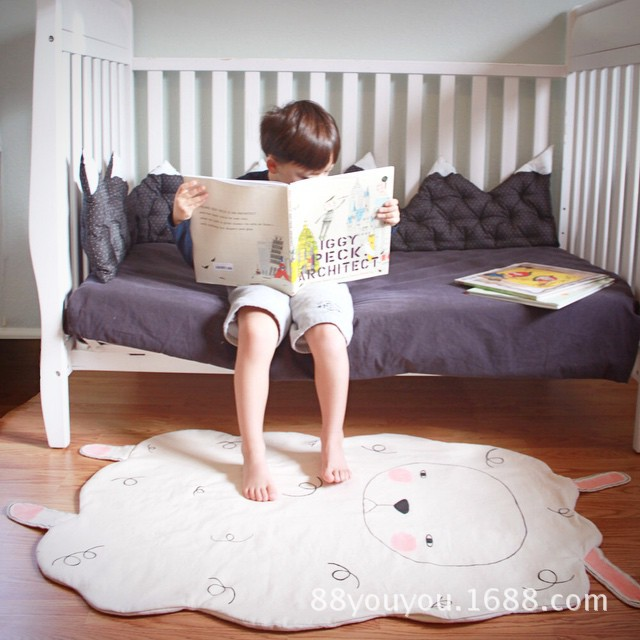 1pcs Cute Kid Sheep shape Carpet Cotton Summer Quilts Lovely Blanket Soft  Beding Afternoon Nap Baby Blanket <br><br>Aliexpress