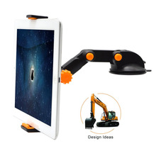 Excavator Shape Long Arm Universal Car Navigator Holder Vehicle Windshield Mount Stand Cradle For Cell Phone GPS Mini Tablets