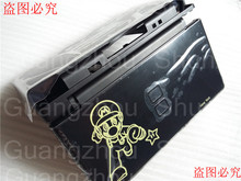 For Mario Black Full Repair Parts Replacement Housing Shell Case Kit Compatible for Nintendo DS Lite NDSL Console