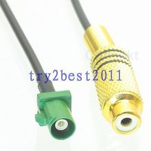RG174 Fakra E 6002 SMB plug pin to RCA TV jack pin RF Jumper pigtail Cable 8inch