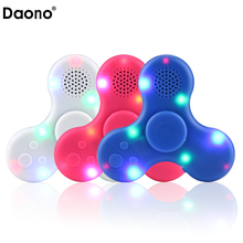 2017 New MP3 Player Colirful LED Light Hand Spinner High Single Hand Decompression Focus Gyro With Speaker Anti-Stress Toys(China)