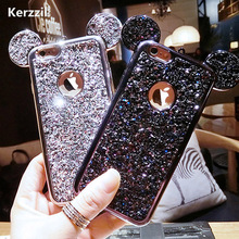 Buy Kerzzil iPhone 6 6s 7 Plus Case Bling Glitter Cartoon Mouse's Ears Cover iPhone 7 6 6S Plus Soft Animal Back Capa for $2.39 in AliExpress store