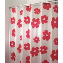 Memory Home Poppy Floral Fabric Spa Bathroom Decor Special Collection Fabric Shower Curtain Home Bathroom Curtain White(China)