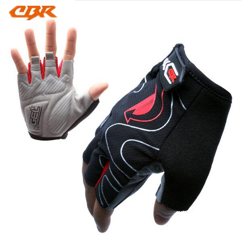 CBR Summer MTB Bicycle Cycling Gloves Breathable Guantes Ciclismo Sports Road Bike Half Finger Gloves Bycicle Cycling Gloves(China)