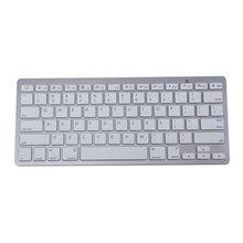 MCSAITE 450 Ultra Thin Portable Standard 78-Key Wireless Bluetooth Keyboard for Ipad Iphone MAC PC (Silver)(China)