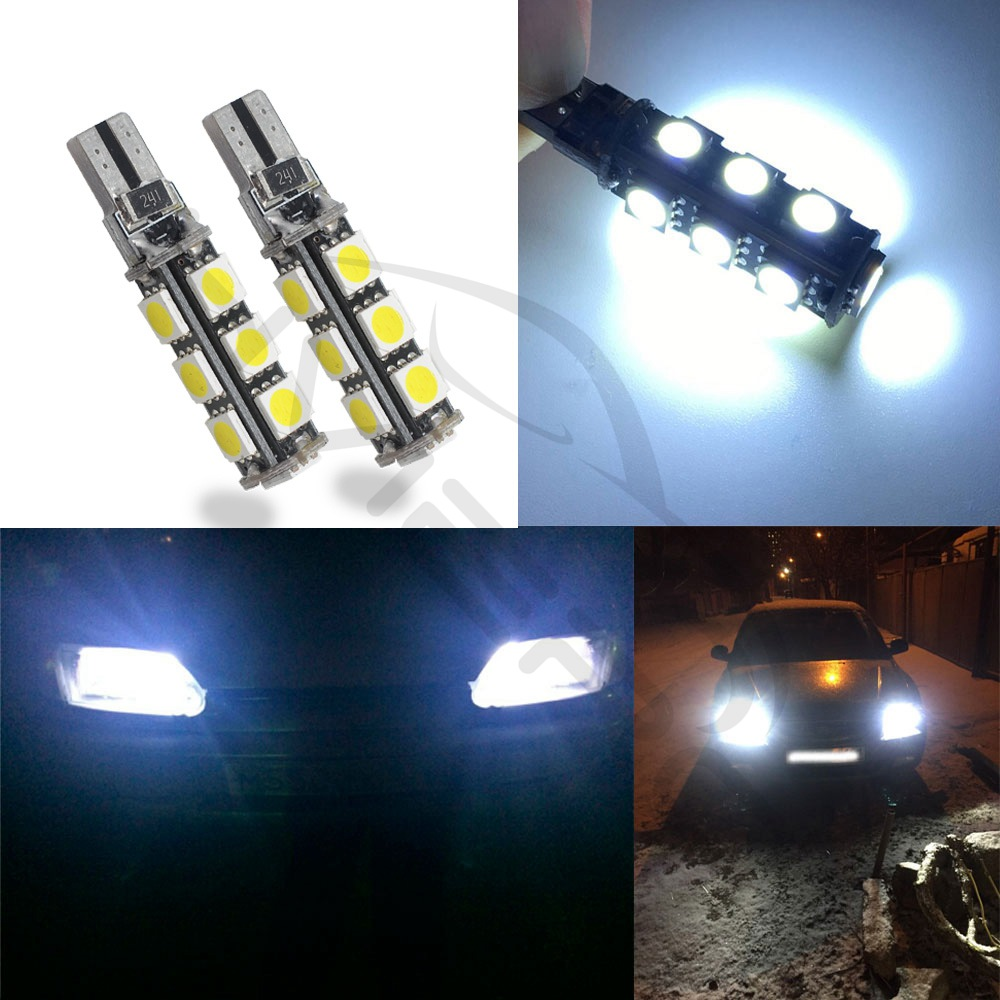 Hviero T10 Canbus 194 W5W 5050 13 smd Car LED White Error Free Light parking Bulbs Trunk Light license plate Rear lamp DC 12V Map Light