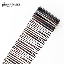 1 Piece Transfer Foil Black Stripe Pattern Nail Art Film Sticker Patch Polish Decal Starry Sky Nail Care Sticker Personality #48(China)