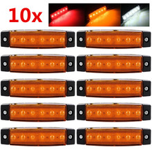 12V 24V Side Marker Lights 6 Led Indicators Lamp Waterproof For Car Truck Trailer Boat Lorry Bus FreeShipping(China)