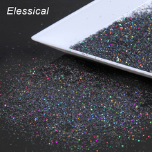 Women Universe Nail Decals Gray Color Dust Design Nail Glitter Powder Dust Holographic Nail Art Styling Tool WY534(China)