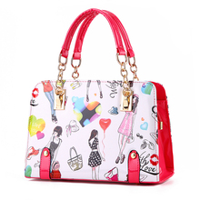 2017 Women Fashion Handbags Pu Leather Shoulder Lady Bags Casual Zipper Messenger Bags Leather Bag Brand Name Tote JF0051(China)