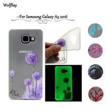 Cover sFor Samsung Galaxy A5 2016 Case Night Light Case For Samsung Galaxy A5 2016 A510 TPU Glow Case For Samsung A5 2016 Fundas(China)