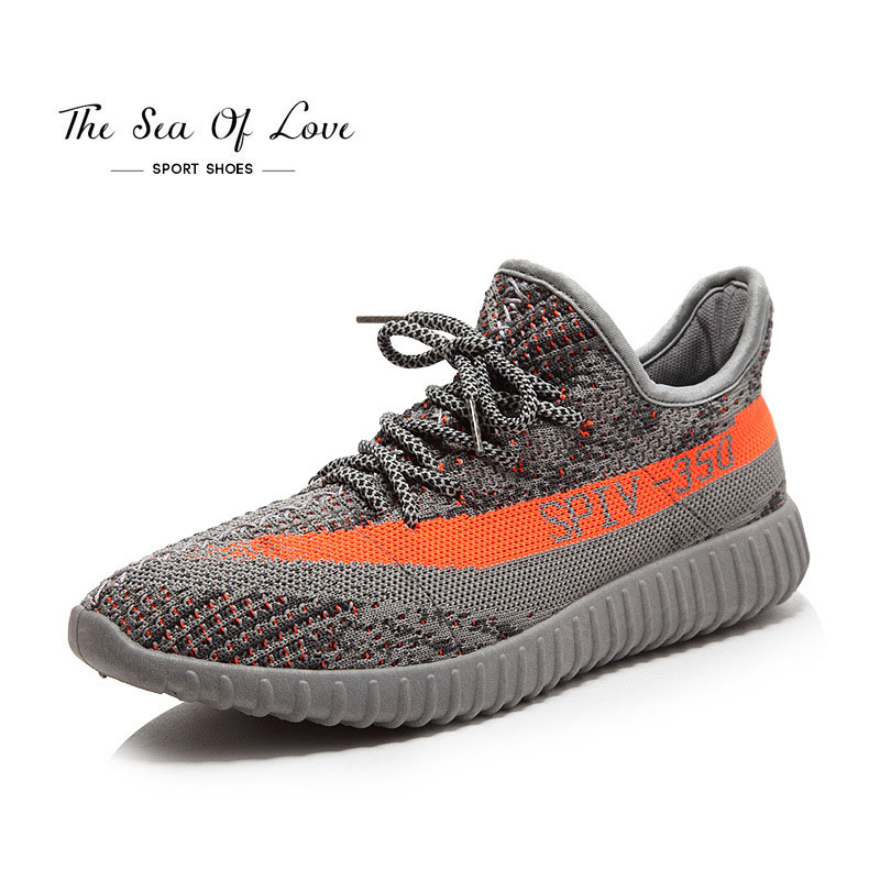 2017 newest men's V2 sport shoes Running shoes knitted breathable leisure sports shoes couple shoes yezzy boost 350 hombre(China (Mainland))