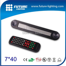Easing with remote control Red color led display 7x40dots car rear window LED car display led sign