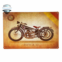 BWM  R 32  Vintage Metal Tin Signs Retro Tin Plate Sign Wall Decoration for Cafe Bar Shop and Restaurant Neon Signs for Bar