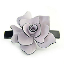 Elegant hair accessories Top Quality Floral Design hair barrette Middle Multi colors French Acetate Plastic Barrette SA012