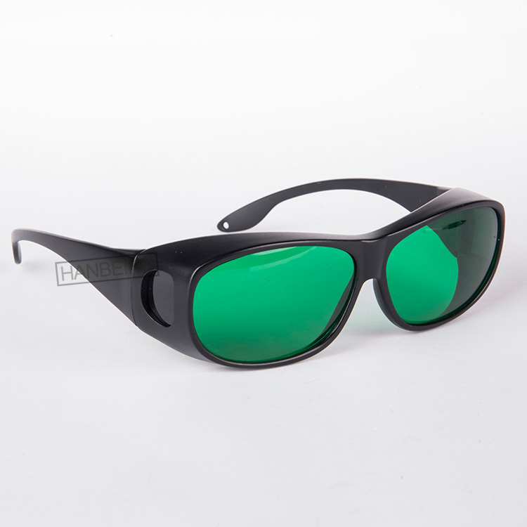 O.D 4+ laser protective glasses for 635nm 650nm 660nm red laser and  755nm alexandrite lasers CE certified with style 9<br>