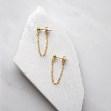 LWONG 4mm Gold Color Ball Chain Ear Jacket Earrings for Women Minimalist Ear Cuff Earrings Simple Thin Chain Wrap Earrings Gifts(China)