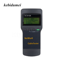 kebidumei Sc8108 LCD Digital PC Data Network Portable Multifunction Wireless CAT5 RJ45 LAN Phone Meter Length Cable Tester Meter(China)