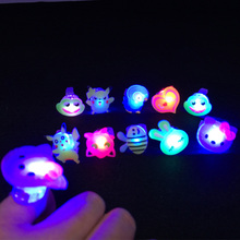 2017 New Led Clothes 50pcs Random Kids Toy Flashing Light Ring Blinking Party Soft Rave Glow Jelly Finger Rings Event Supply(China)