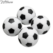 Kiwarm 4pcs Black White 35mm Plastic Football Foosball Balls For Soccer Table Football Craft For Home Kids Gift Toys Ornament(China)