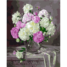 Oil Painting DIY Digital Paint Wall Picture Living Room Flowers Narcissus Print Poster Number Digital Canvas Decor free ship