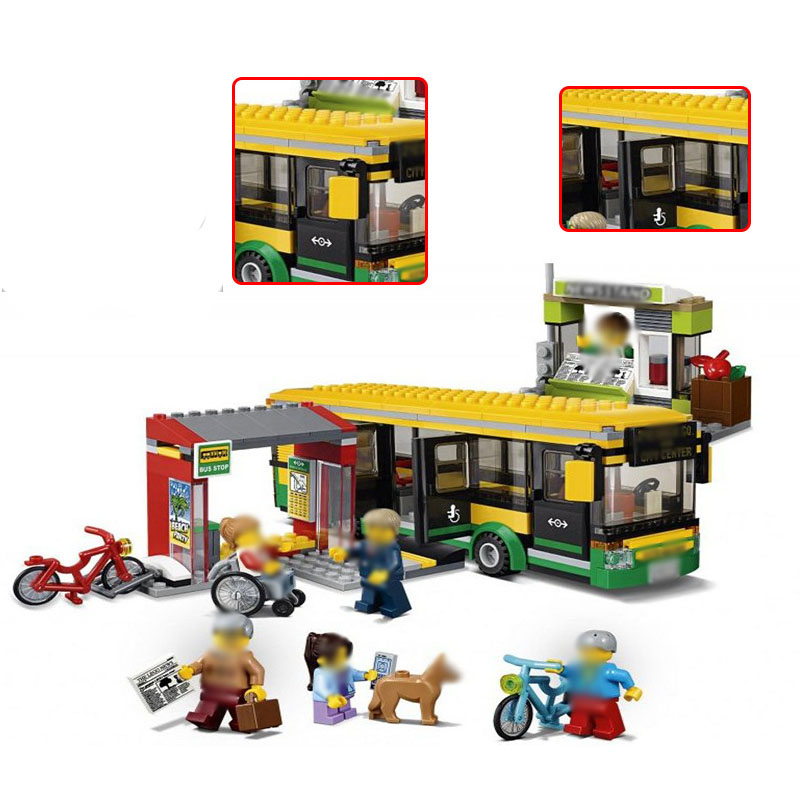 Lepin 02078 City The Bus Station Set Genuine 377Pcs Building Blocks With Bricks Educational Toys As Boys girls Gifts <br>