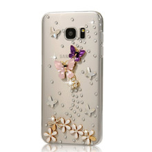 3D SNew fashion Bling diamond diy Case cover for Samsung Galaxy A8/S1 i9000/Note 1 N7000/S3 i9300/i8160 luxury Rhinestone Cases(China)