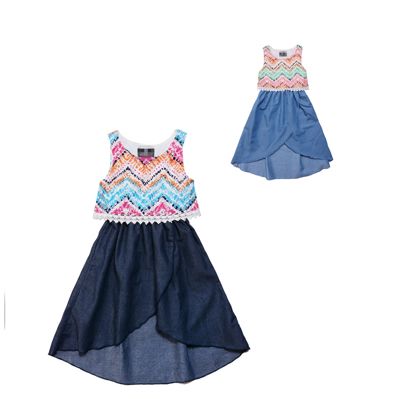 Infant Baby Girl Dress 2016 Denim Kids Dresses For...