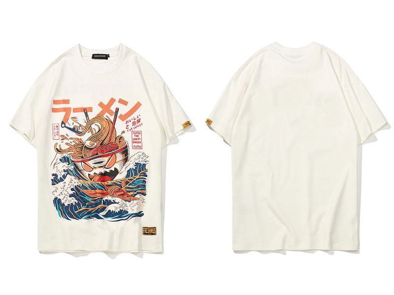 Japanese Funny Cartoon Ramen Tshirts 2