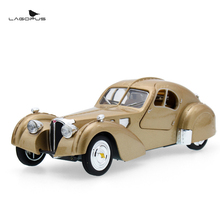 lagopus Zinc Alloy Mini Car Model Toy Bentley Classic Car High Simulation Vintage Cars Sound&light Pull Back Gift for Children