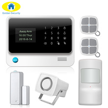 2017 G90B Plus WIFI GSM Alarm System GPRS Security Burglar Alarm Apps Control Door/Window Sensor Alarm Home Alarm Systems(China)