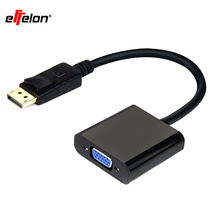 Effelon DP to VGA Cable 1080P Gold Plated Standard Displayport to VGA Converter Adapter for TV Projector Display