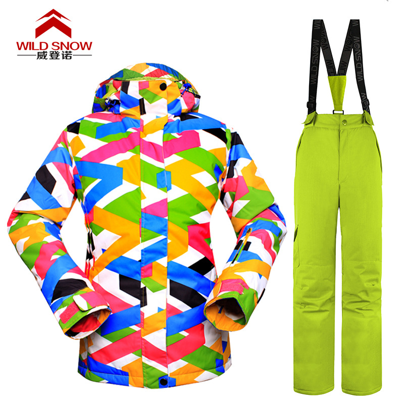Brand Snowboarding Sets Jackets Pants top &amp; bottom Outdoor Sport snow Ladies thick Warm Skiing coat 2016 newest clothes<br><br>Aliexpress