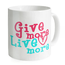 Give More Live More Mugs Coffee Tea Milk Cups Juice Lover Mug Copo Letter Home Sweet Ceramic Creative Office Simple Mugs
