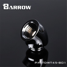 Barrow G1/4 Reversing Fitting 45 degree Adapter ( Female to male ) for computer water cooling TDWT45-V2(China)