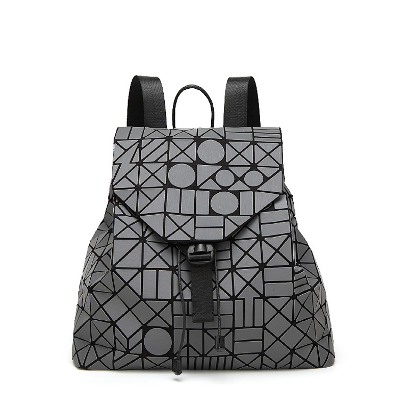 Womens Backpack Bao Bao Geometric Patchwork Diamond Lattice Ladies Backpack For Teenage Girl School Bag mochila cuerdas<br>