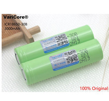2 pcs. Varicore new original 3.7 V 3000 mAh 18650 rechargeable lithium battery. Battery flashlight; Battery for mobile devices