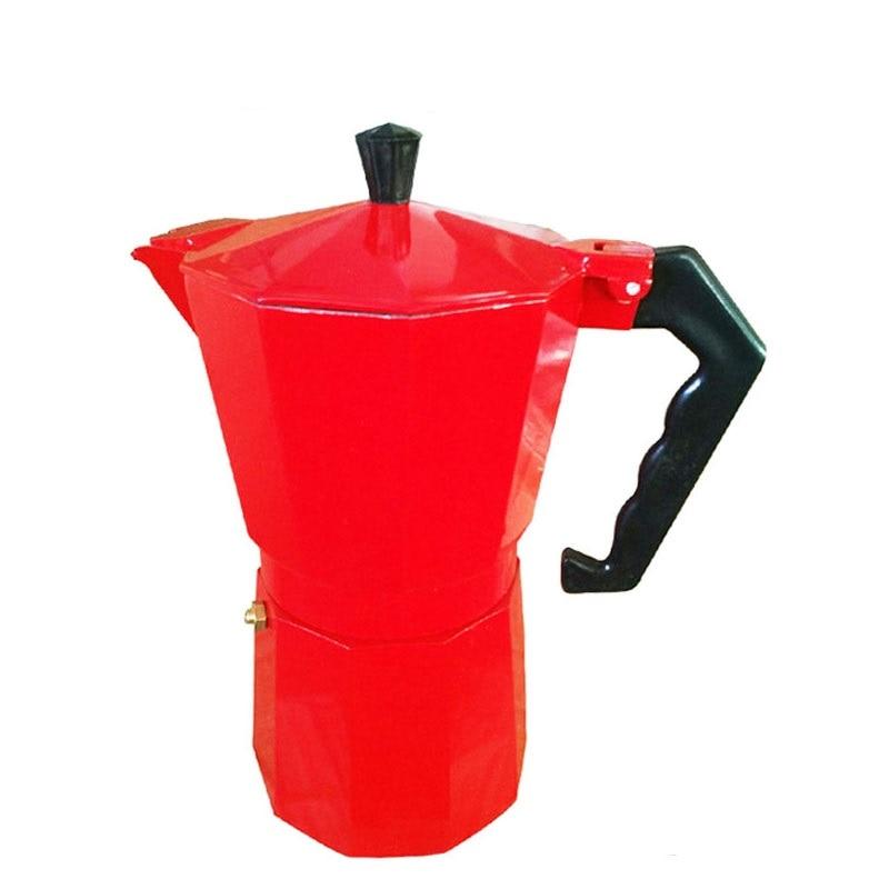 4 colors Italian Stove top/Moka espresso coffee maker/percolator pot tool 9 cup<br><br>Aliexpress