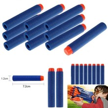 100PCs Soft Hollow Hole Head 7.2cm Refill Darts Toy Gun Bullets for Nerf Series Blasters Xmas Kid Children Gift for Nerf Toy Gun