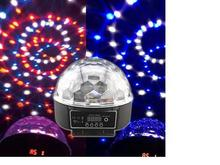 RA-T-02,DMX512 colorful LED crystal magic ball light with remote controller,sound controlled,KTV,bar