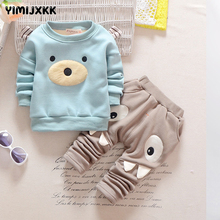 M&F Cartoon Children Boy Girl Clothing Set Spring and Autumn Boys Top+Pants 2pc Suit Long Sleeve Spring Baby Kids Clothes Sets(China)