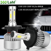 S2 H7 Led H4 Headlight Bulb 12v 6000K H1 H8 H11 9006 hb4 9005 9004 H27 880 H3 Automobiles lamp Exterior Lighting Car Goods light(China)