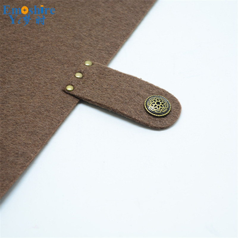 Emoshire B5 felt loose-leaf notebook large note diary kraft paper felt loose-leaf can wholesale custom logo (3)
