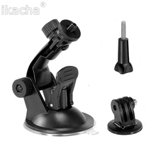 Hot Sell Car Suction Cup Mount Holder Bracket + Tripod Adapter + Long Screw For Gopro Hero 4 For Canon For Nikon Digital Cameras