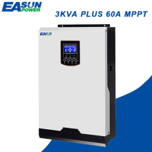 EASUN POWER Solar Inverter 220V 2400W 60A MPPT Pure Sine Wave Inverter 3Kva Off Grid Inverter 24V 50Hz Inverter 60A AC Charger(China)