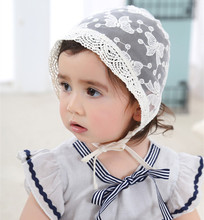 EMS OR DHL 120PCS Bow Full Lace Summer Cool Baby Child Headband Little Girl Anniversary Palace Hat Princess Hair Accessories