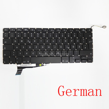 "New Original A1286 German Keyboards Laptop Repair Retina For Apple MacBook Pro 2008 Notebook Parts 15.4"" 15"" Replacement"